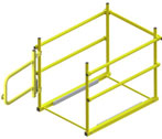 Saf-T Hatch Self Closing Gate and Safety Railing for Roof Hatches